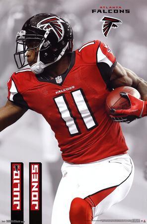 Julio Jones Atlanta Falcons NFL Sports Poster