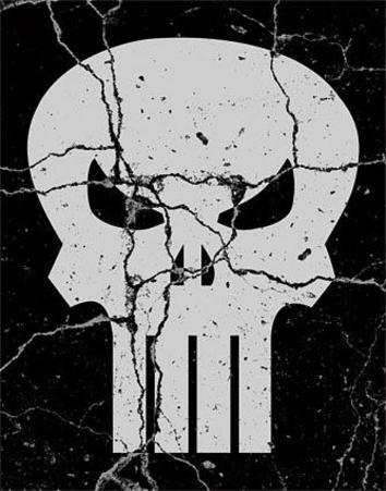 The Punisher Skull Logo Tin Sign