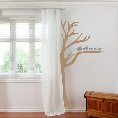 Half Tree & Birds Grey Wall Decal
