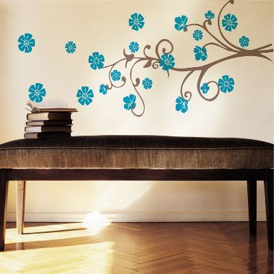 Paradise Branch Blue Wall Decal