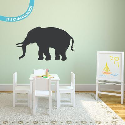 Elephant Notes Chalkboard Wall Decal