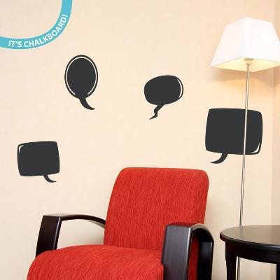 Chat Time Chalkboard Wall Decal