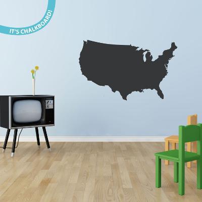 USA Chalkboard Wall Decal