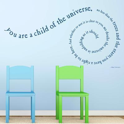 Child of the Universe Quote Gentian Wall Decal