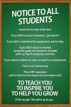 notice to all students classroom rules poster prints at allposters com