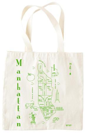 Natural Grocery Tote - Manhattan
