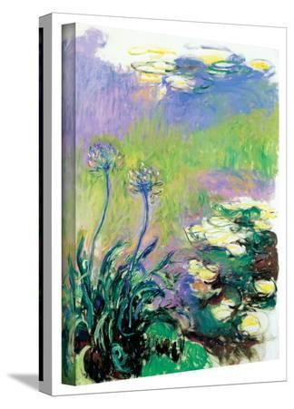 Claude Monet 'Agapanthus' Gallery Wrapped Canvas