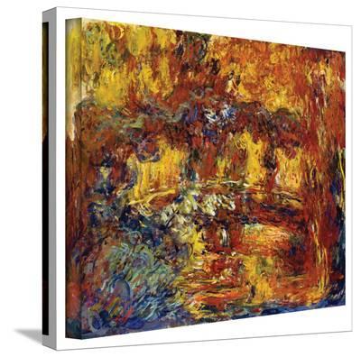 Claude Monet 'Japanese Footbridge' Gallery Wrapped Canvas