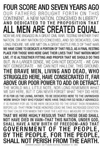 graphic relating to Gettysburg Address Printable named Gettysburg Cover Terms