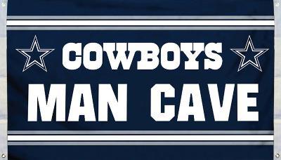 NFL Dallas Cowboys Man Cave Flag with 4 Grommets