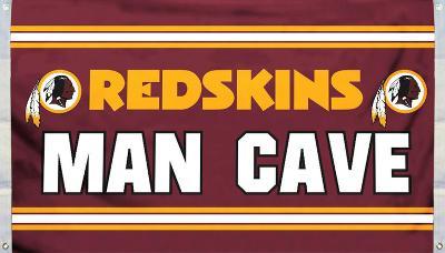 NFL Washington Redskins Man Cave Flag with 4 Grommets