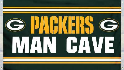 NFL Green Bay Packers Man Cave Flag with 4 Grommets