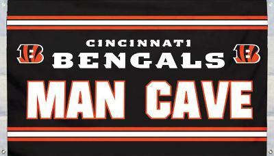 NFL Cincinnati Bengals Man Cave Flag with 4 Grommets