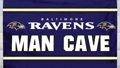 NFL Baltimore Ravens Man Cave Flag with 4 Grommets