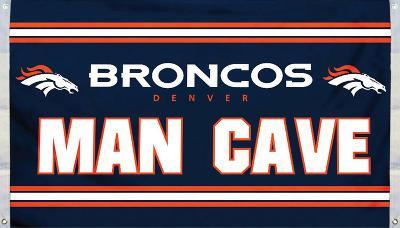 NFL Denver Broncos Man Cave Flag with 4 Grommets