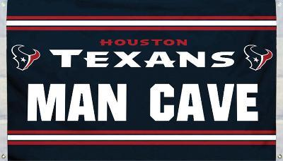 NFL Houston Texans Man Cave Flag with 4 Grommets