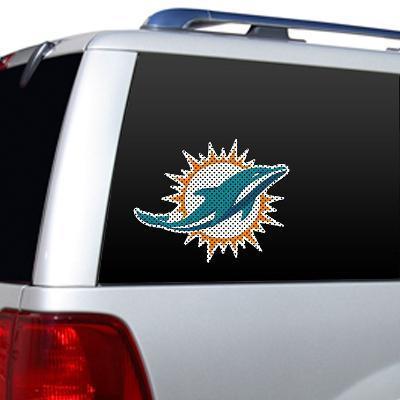 NFL Miami Dolphins Diecut Window Film