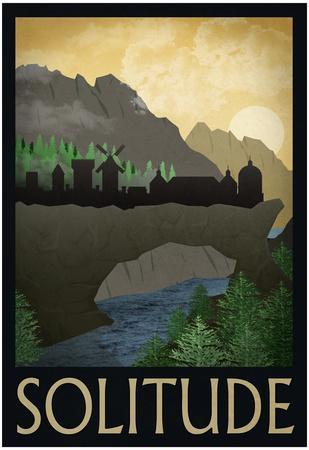 Solitude Retro Travel Poster
