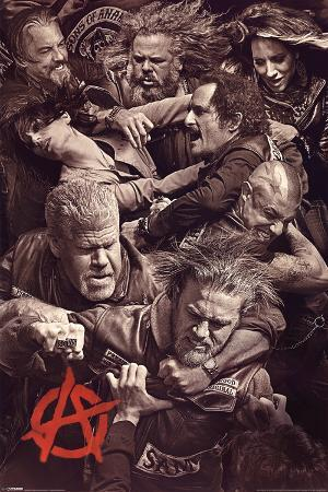 Sons of Anarchy - Fighting Television Poster