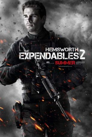 The Expendables 2 (Liam Hemsworth) Movie Poster