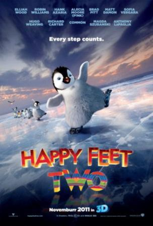 Happy Feet Two (Brad Pitt, Matt Damon, Sofia Verger) Movie Poster