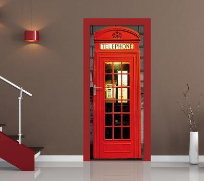 British Phone Box Door Wallpaper Mural