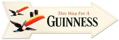 Guinness Arrow Tin Sign