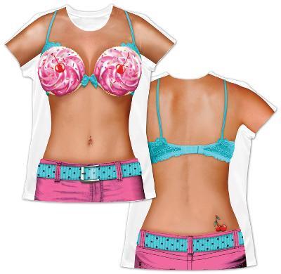 Womens: Cupcake Bikini Costume Tee