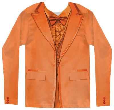 Long Sleeve: Orange Tuxedo Costume Tee