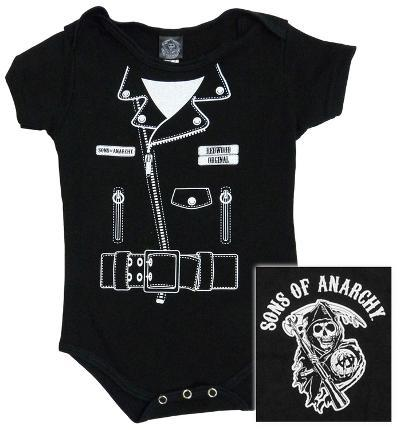 Infant: Sons of Anarchy - SOA Jacket Diaper Suit