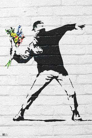 Banksy- Rage, Flower Thrower