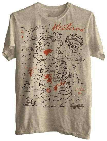 Game of Thrones - Simple Map Game Of Thrones Map T Shirt on game of thrones pokemon shirt, game of thrones stark shirt, game of thrones school shirt, united states map shirt, africa map shirt, game of thrones beer bottles, fargo map shirt, game of thrones table book, westeros map shirt,
