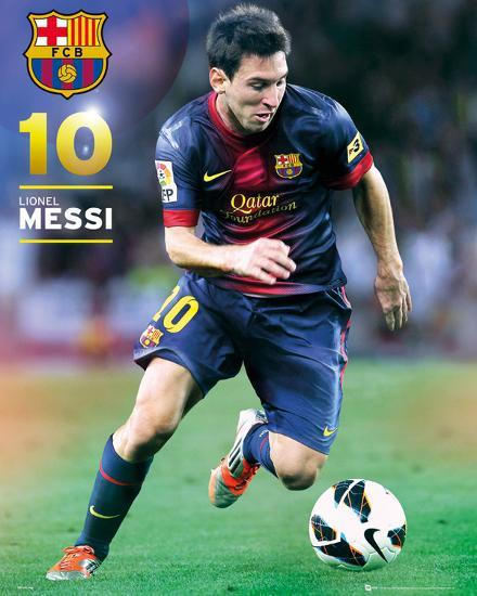760174248 Barcelona Lionel Messi (number 10) 2012/13 Action Poster Poster at  AllPosters.com