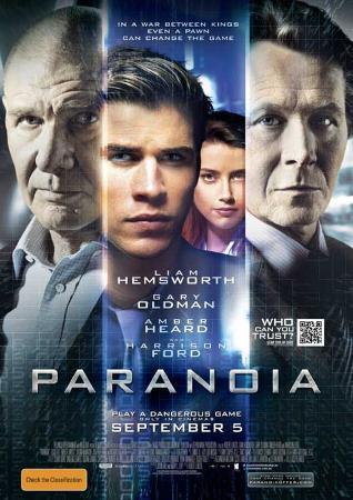 Paranoia (Liam Hemsworth, Gary Oldman, Harrison Ford) Movie Poster