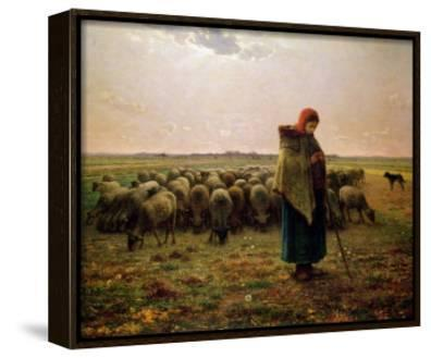 Shepherdess with Her Flock, 1863