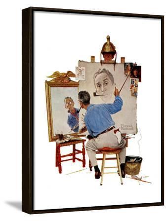 """Triple Self-Portrait"", February 13,1960"