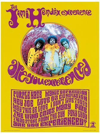 Jimi Hendrix Are You Experienced Music Poster