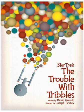 Star Trek - The Trouble With Tribbles Vintage Style Television Poster