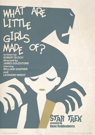 Star Trek - What Are Little Girls Made Of? Vintage Style Television Poster