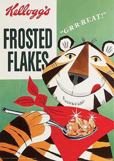 Vintage Kelloggs (Frosted Flakes) Advertisement Poster ...