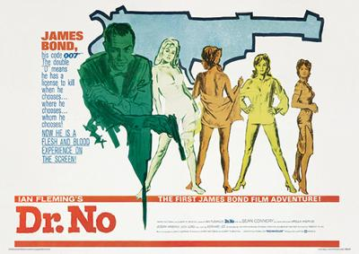 James Bond (Doctor No 007) Movie Poster Print
