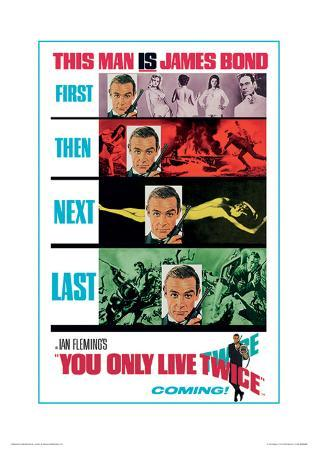James Bond (You Only Live Twice Teaser) Movie Poster Print