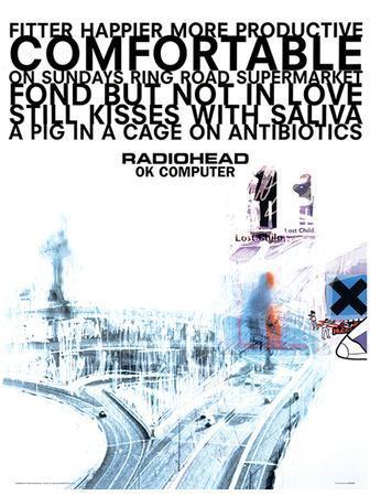 Radiohead - Ok Computer Music Poster
