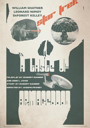 Star Trek - A Taste Of Armageddon Vintage Style Television Poster