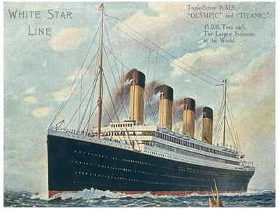 R.M.S. Titanic Vintage Style Travel Poster