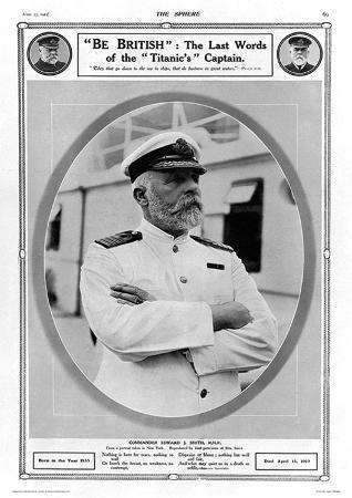 "R.M.S. Titanic ""Be British"" Captain's Last Words Vintage Style Photo Poster"
