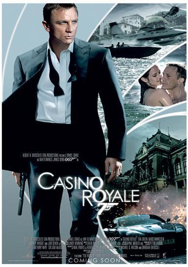 James Bond Casino Royale One Sheet Movie Poster Print