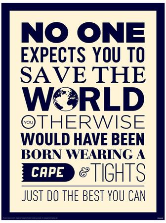 Save The World Funny Poster