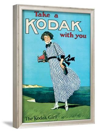 Kodak Girl Vintage Style Advertisement Poster