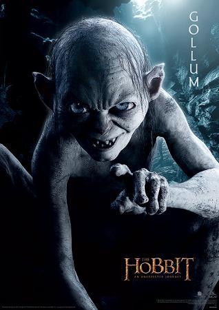The Hobbit - Gollum Portrait Movie Poster